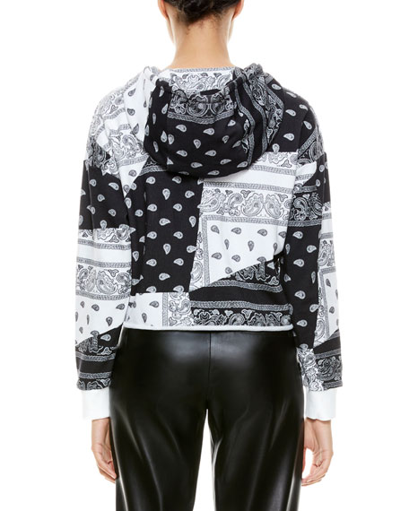 Image 2 of 5: ALICE + OLIVIA JEANS Niki Funnel-Neck Cropped Hoodie