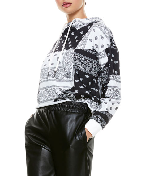 Image 5 of 5: ALICE + OLIVIA JEANS Niki Funnel-Neck Cropped Hoodie