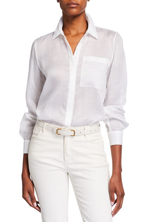 Lafayette 148 New York Ruxton Gemma Cloth Blouse