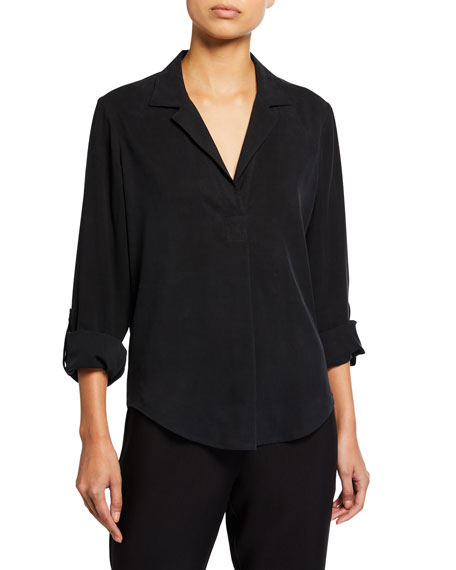 Image 1 of 3: Go Silk Plus Size Go Anywhere Fuji Silk Top