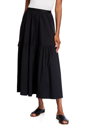 Lafayette 148 New York Safford Stretch Cotton Skirt