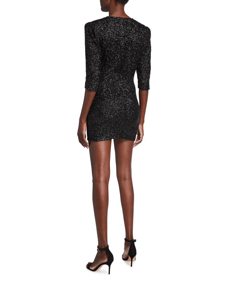 Image 2 of 2: Iro Justify Sequined V-Neck Mini Dress