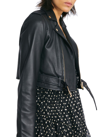 Image 3 of 3: Iro Denalispe Leather Biker Jacket
