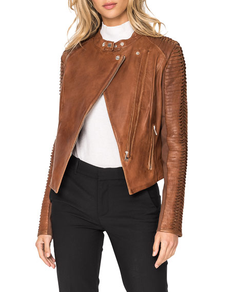 Image 2 of 5: LaMarque Azra Leather Moto Jacket