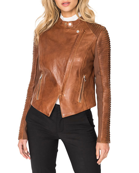 Image 3 of 5: LaMarque Azra Leather Moto Jacket