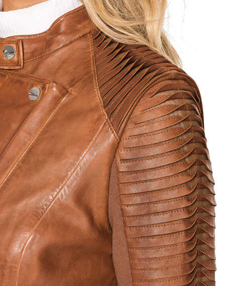 Image 5 of 5: LaMarque Azra Leather Moto Jacket