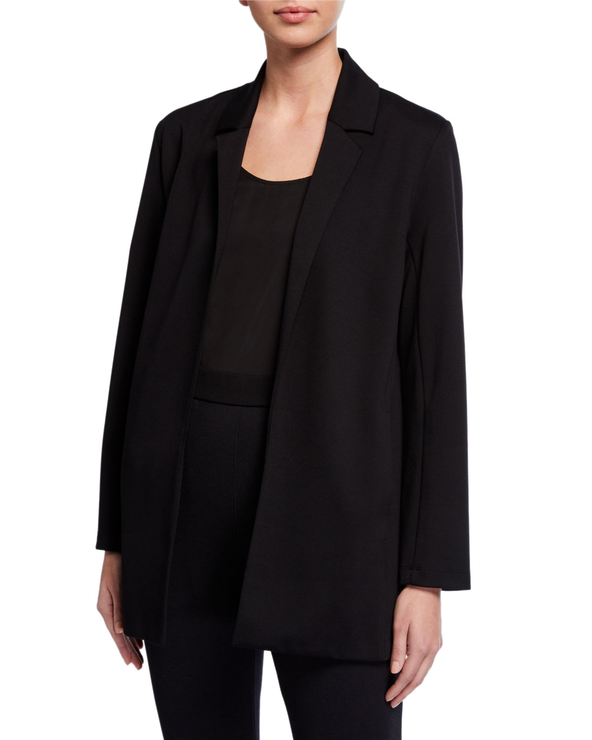 Eileen Fisher Plus Size Flex Lyocell Ponte Jacket