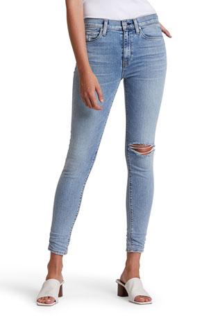 Hudson Nico Distressed Crop Skinny Jeans
