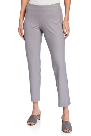 Eileen Fisher Washable Stretch Crepe Ankle Pants