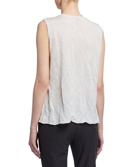 Image 2 of 2: Eileen Fisher V-Neck Metal Shell