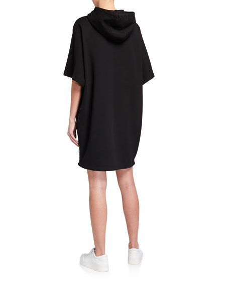 Image 3 of 3: McQ Swallow Flag Hoodie Dress