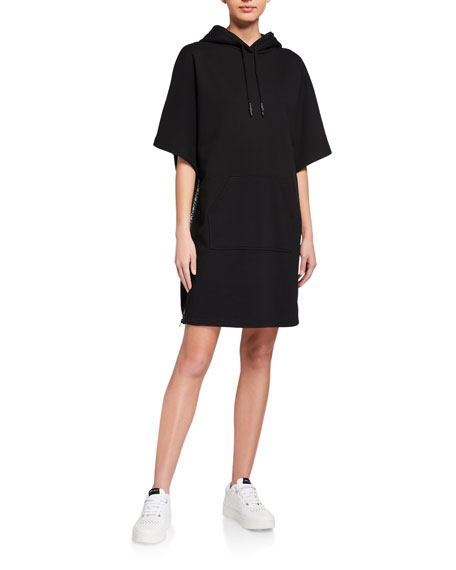Image 1 of 3: McQ Swallow Flag Hoodie Dress