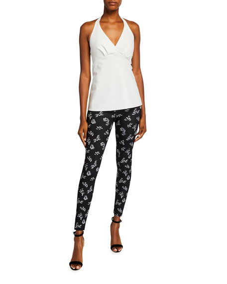 Image 3 of 3: Chiara Boni La Petite Robe Colombe Animal-Print Skinny Pants