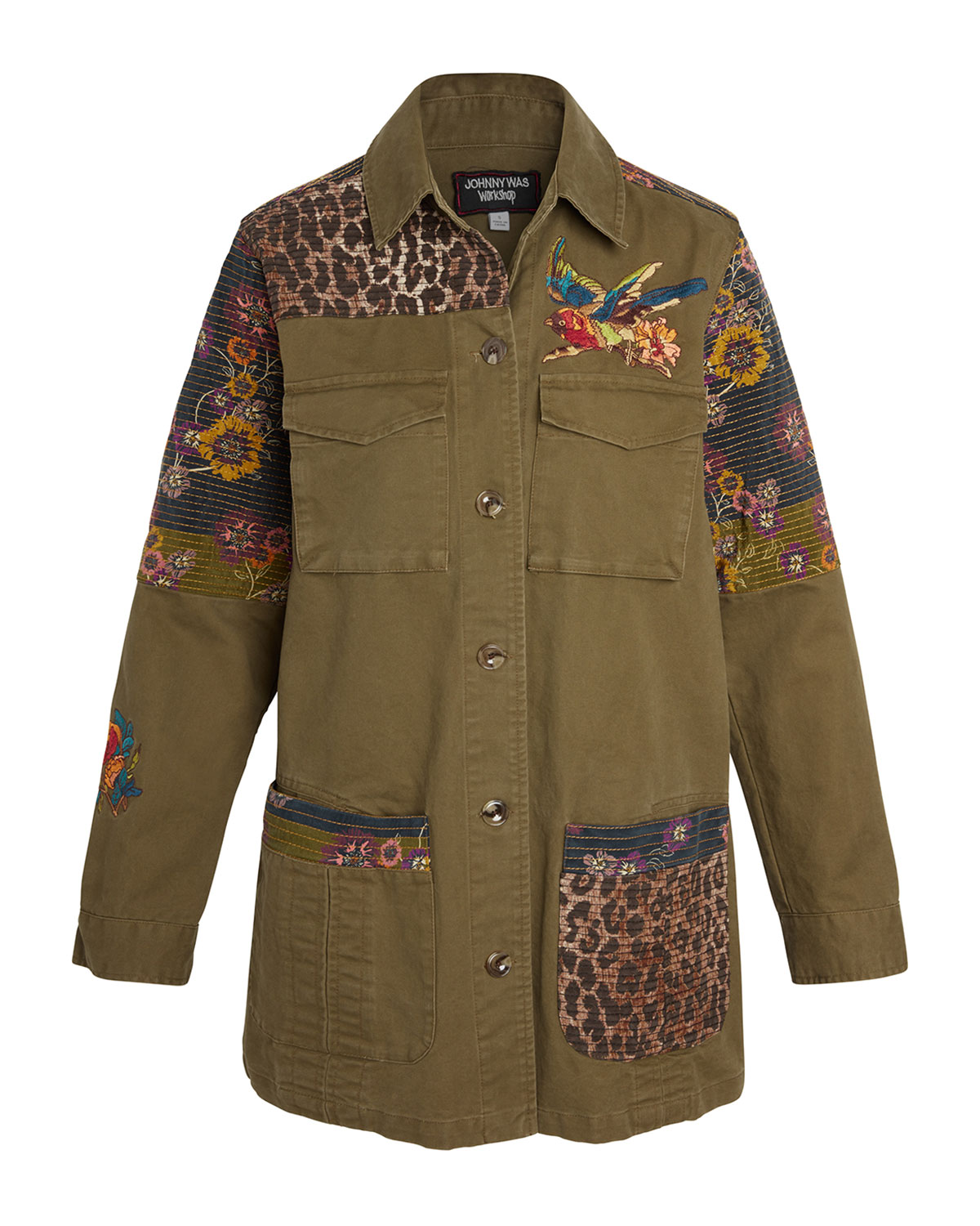 Johnny Was Patchwork Embroidered Military Jacket   Neiman ...