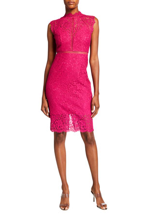 Bardot Lace Panel Sleeveless Dress