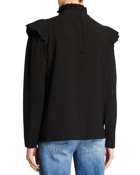 Image 2 of 2: Lafayette 148 New York Ashlyn Finesse Crepe Blouse