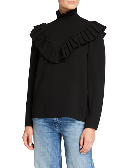 Image 1 of 2: Lafayette 148 New York Ashlyn Finesse Crepe Blouse