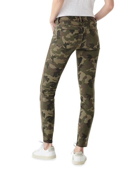 Image 2 of 2: DL1961 Premium Denim Florence Camo-Print Ankle Skinny Jeans