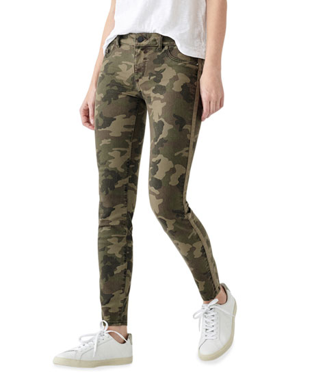 Image 1 of 2: DL1961 Premium Denim Florence Camo-Print Ankle Skinny Jeans