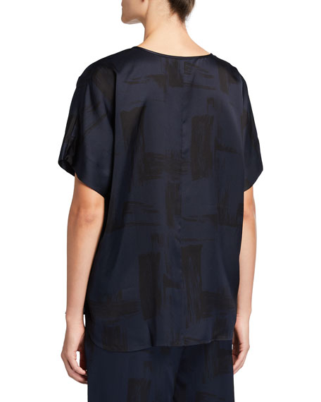 Image 2 of 2: Eileen Fisher Brushstroke Silk-Organic Cotton Shirt