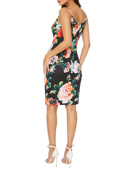 Image 2 of 2: Black Halo Amorie Floral Print Sheath Dress