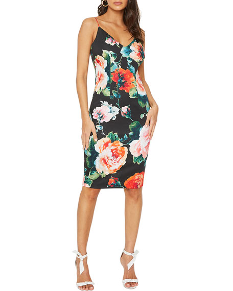 Image 1 of 2: Black Halo Amorie Floral Print Sheath Dress