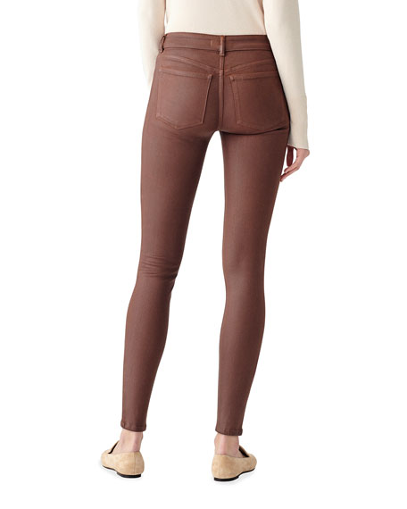 Image 2 of 2: DL1961 Premium Denim Emm Low-Rise Skinny Coated Jeans
