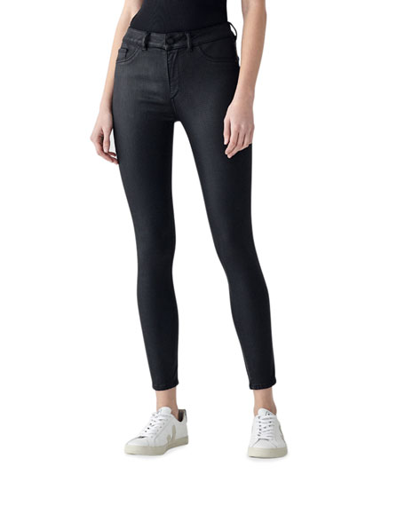 Image 1 of 2: DL1961 Premium Denim Florence Ankle Mid-Rise Skinny Jeans