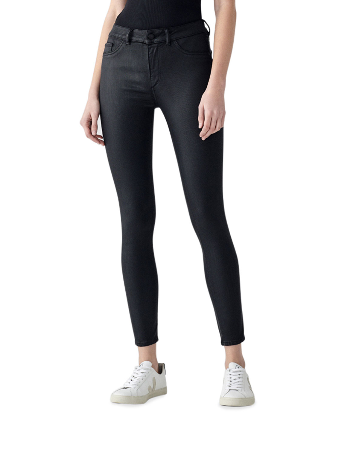 DL1961 Premium Denim Florence Ankle Mid-Rise Skinny Jeans