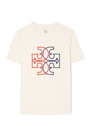 Tory Burch Colorblock Logo T-Shirt