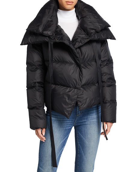 Image 2 of 3: Bacon Double-Collar Short Puffer Jacket