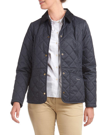 Image 2 of 3: Barbour Huddleson Quilted Corduroy-Collar Jacket