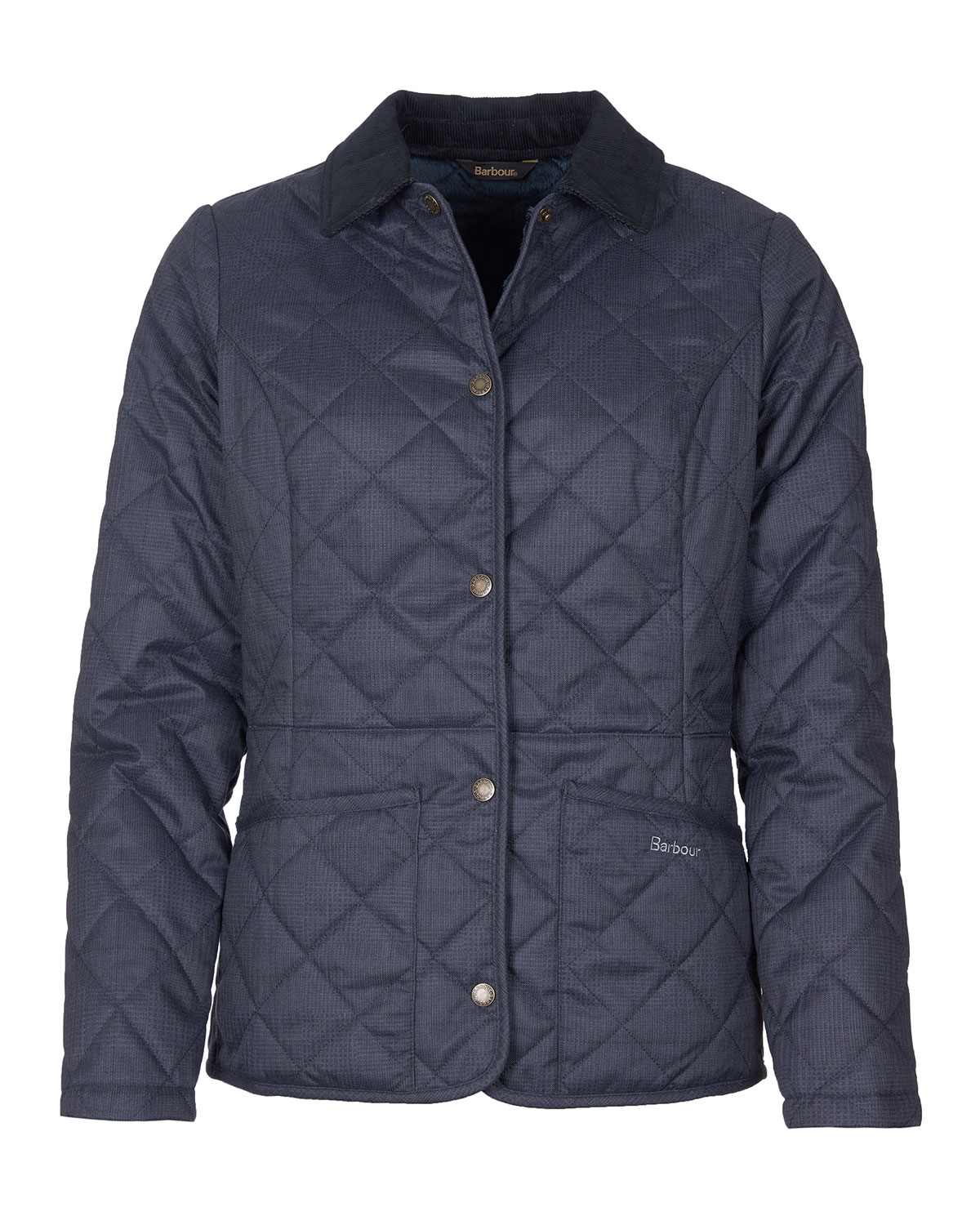 Barbour Huddleson Quilted Corduroy-Collar Jacket