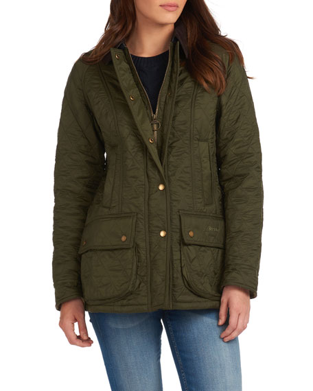 Image 3 of 4: Barbour Beadnell Jacket in Diamond Polarquilt