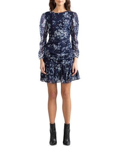 Shoshanna Ann Westminster Floral Ruched Dress