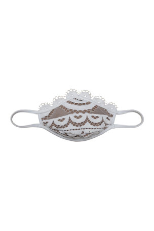 PQ Swim Reusable 'MasQini' Cloth Mask Face Covering - Waterlily with Lace