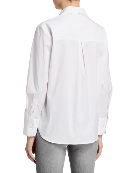 Image 3 of 3: Finley Alicia Solid Button-Down Shirt