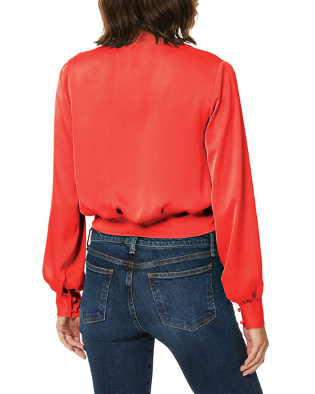 Image 3 of 3: Ramy Brook Analiese Long-Sleeve Wrap Top