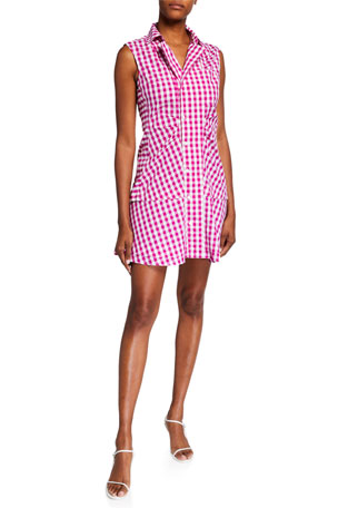 Derek Lam 10 Crosby Satina Sleeveless Shirtdress