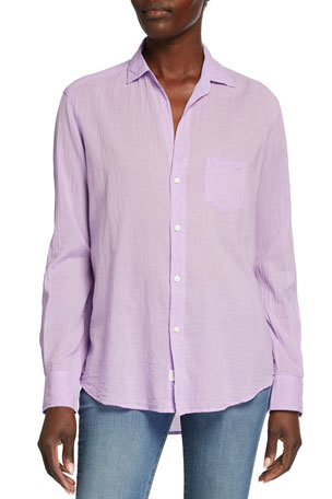 Frank & Eileen Eileen Striped Long-Sleeve Button-Down Shirt