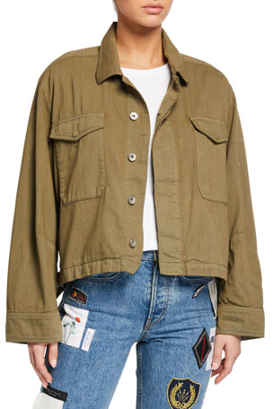 Rag & Bone Swingback Button-Front Jacket