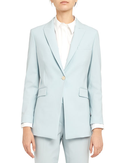Image 2 of 2: Theory Etiennette One-Button Good Wool Suiting Jacket