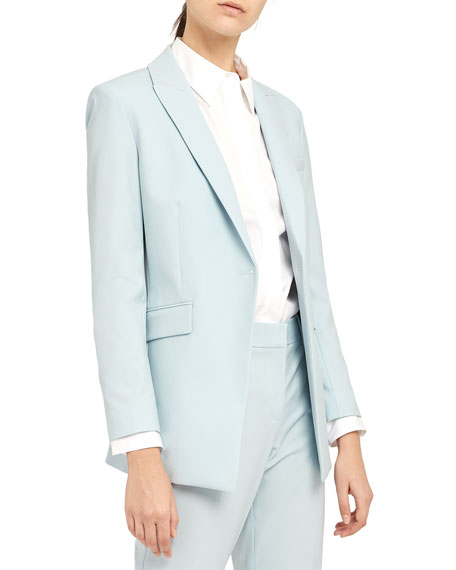 Image 1 of 2: Theory Etiennette One-Button Good Wool Suiting Jacket