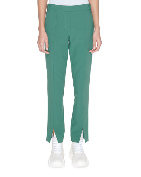 Image 1 of 2: Tibi Menswear Stretch Suiting Cropped Pants