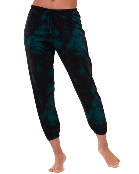 Image 1 of 3: Onzie Tie-Dye Fleece Sweatpants
