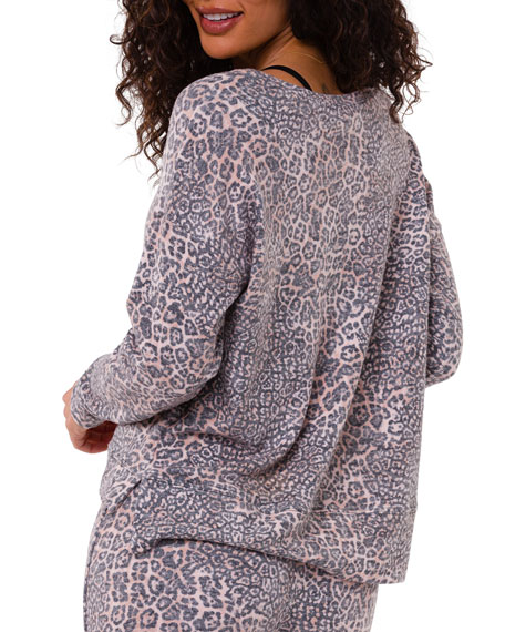 Image 2 of 3: Onzie High-Low Animal-Print Sweater