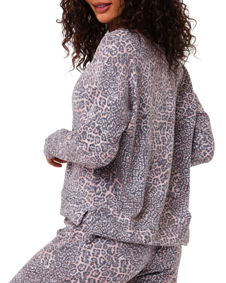 Image 3 of 3: Onzie High-Low Animal-Print Sweater