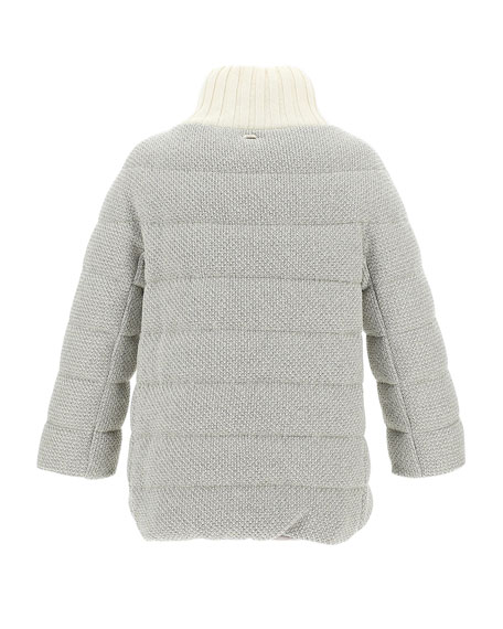 Image 3 of 3: Herno Bilbao Knit Adjustable Collar Short Coat
