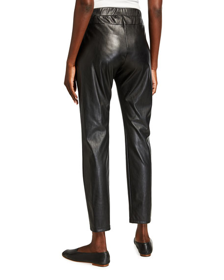 Image 2 of 3: Max Mara Leisure Ranghi Faux Leather Jersey Pants