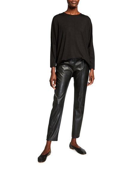 Image 3 of 3: Max Mara Leisure Ranghi Faux Leather Jersey Pants